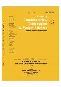 JOURNAL OF COMBINATORICS, INFORMATION &  SYSTEM SCIENCES : A Quarterly International Scientific Journal