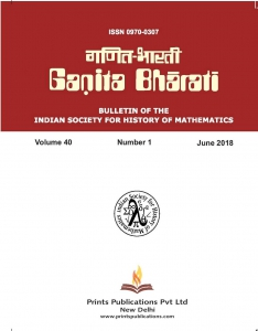 GANITA BHARATI : Bulletin of the Indian Society for History of Mathematics