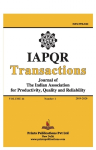 IAPQR TRANSACTIONS : Journal of The Indian Association for Productivity, Quality and Reliability