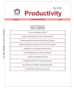 PRODUCTIVITY : A Quarterly Journal of the National Productivity Council
